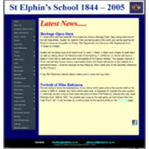 St Elphin's School home page